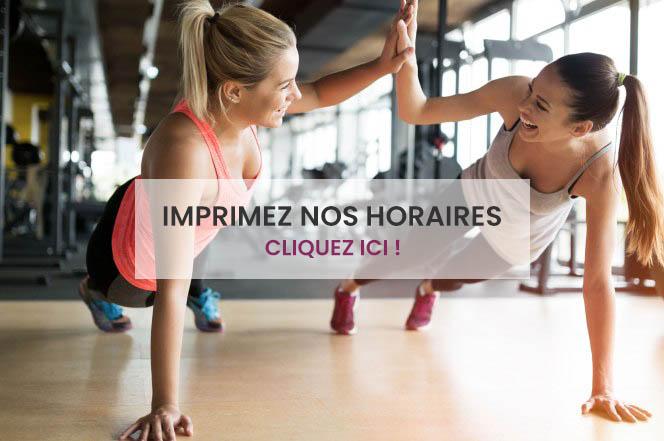 Nos horaires de cours - Centre de fitness à Bruxelles